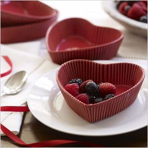Heart shaped dessert cups
