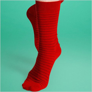 happy socks red think stripe socks