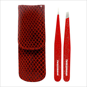 Tweezerman Red Glitter Tweezer Set