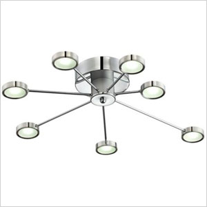 retro circle light fixture
