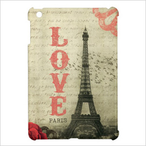 vintage paris love ipad case
