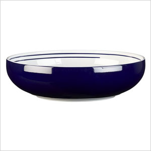 Helix blue serving bowl