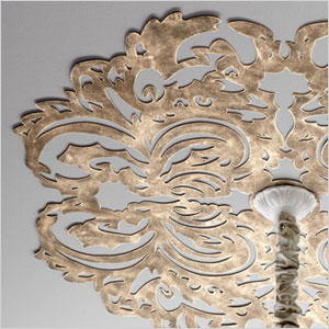 Lace metal ceilling disk