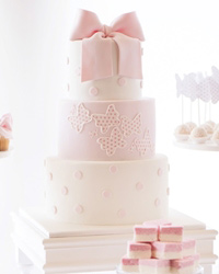Butterflies and polka dot cake