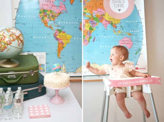 World Traveler First Birthday Party