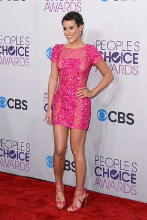 Lea Michele at the 2013 People's Choice Awards
