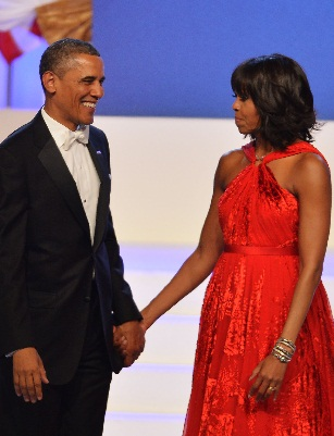 The President and First Lady Obama at the Inaugural Ball