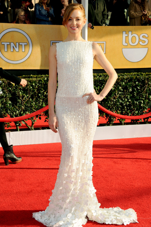 Jayma Mays at the 2013 SAG Awards