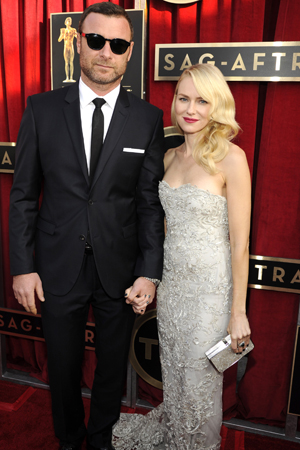 Liev Schreiber and Naomi Watts at the 013 SAG Awards