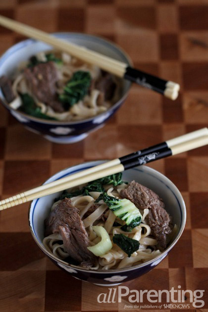 Chinese beef & bok choy noodles