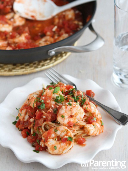 Roasted Shrimp with tomatoes and feta cheese PIN