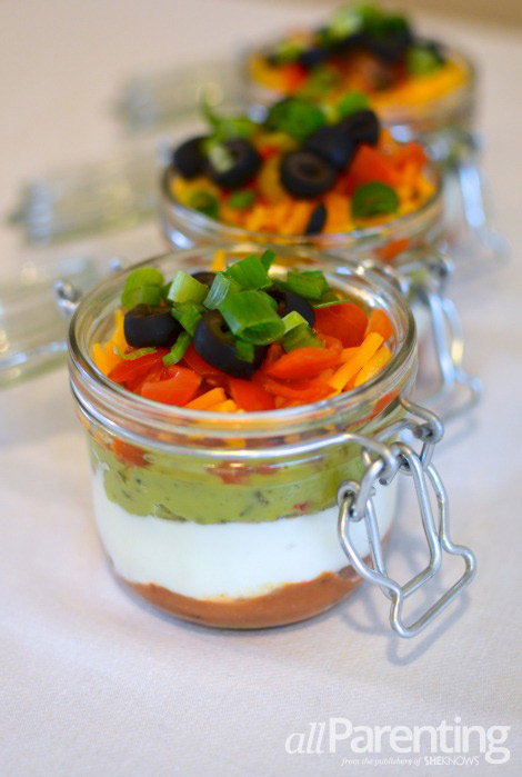 Mason jar layered dip