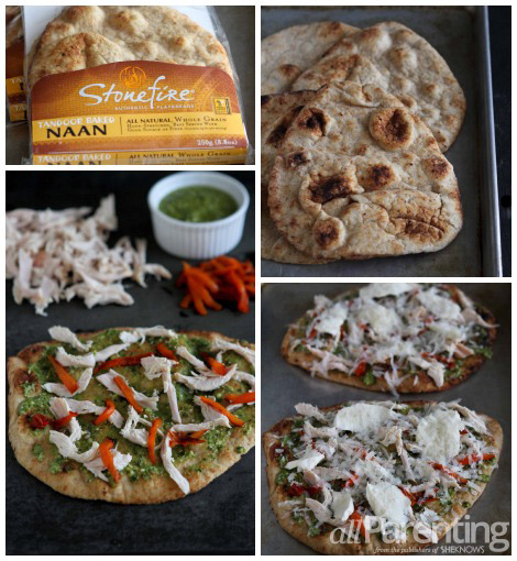 Mediterranean pizza collage