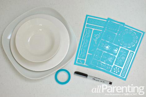 Sharpie Dinnerware what you need