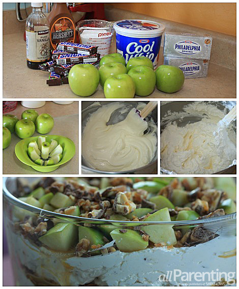 Snickers Apple Trifle collage