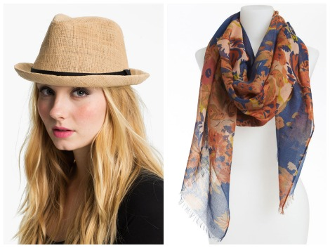Witherspoon fedora and scarf
