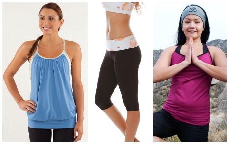 hot yoga activewear collage