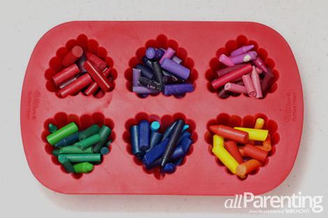 Crayon hearts step 2