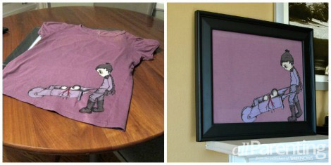 framing a tshirt