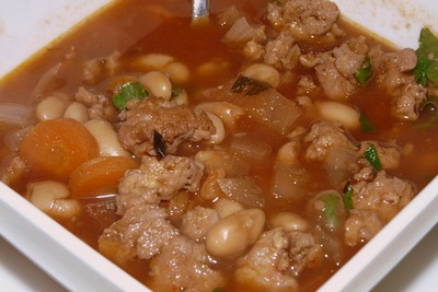 Slow cooker Italian Chicken Sausage and Bean Stew