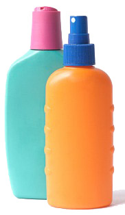 sunscreen bottles