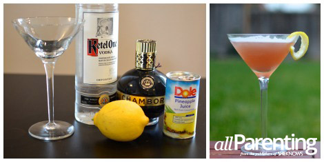 French martini collage