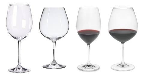 The classic red wine glass collage