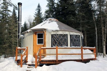 wintertime yurt