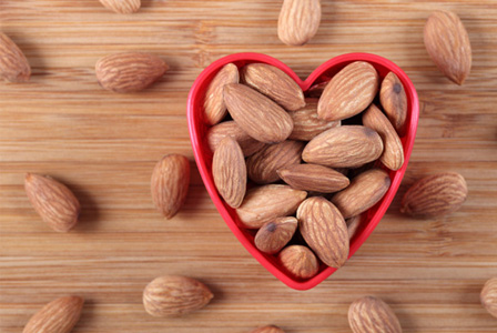Almonds in heart