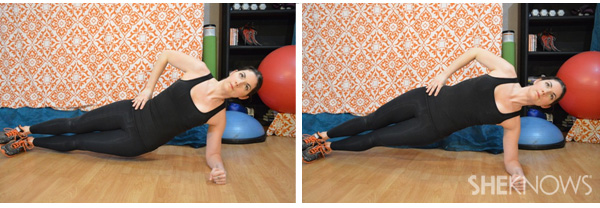 Side plank with hip raise 2