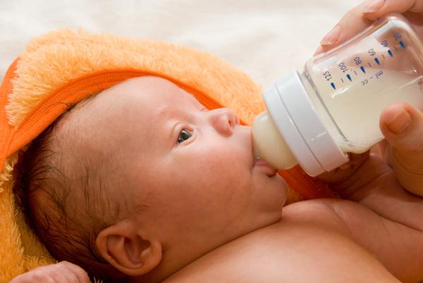 Baby taking a bottle