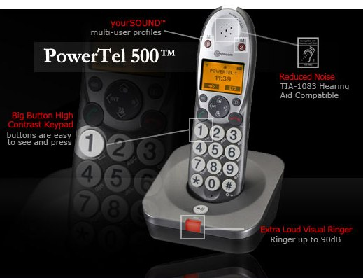 Amplicom USA PowerTel 500 Phone
