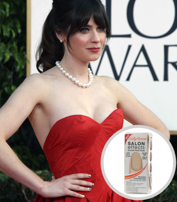 Zooey Deschanel at the 2013 Golden Globes