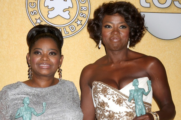 Viola Davis wins at the 2012 SAG Awards.