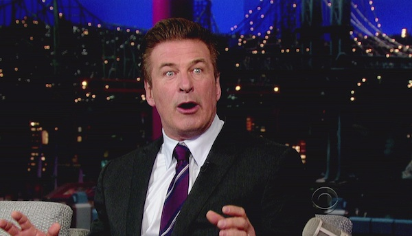 Alec Baldwin makes a funny face.