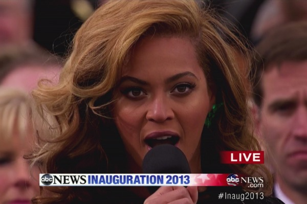 Beyonce at the inauguration