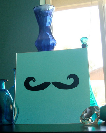 Mustache Mirror from The Blue Penguin Shop