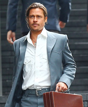 Brad Pitt filming a new movie
