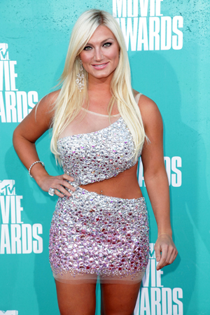 Brooke Hogan in a silver dress