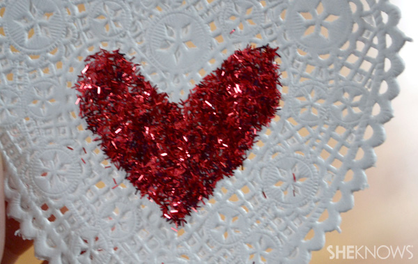 heart with glitter