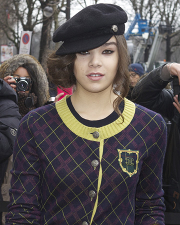 Hailee Steinfeld at Paris Fashion Week