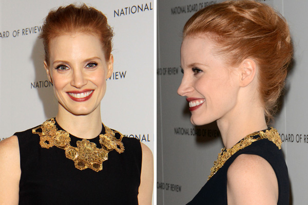 Jessica Chastain at the 2013 Golden Globes