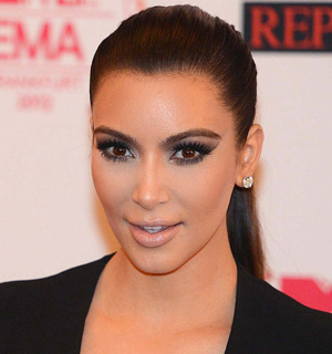 Kim Kardashian's smoky eye