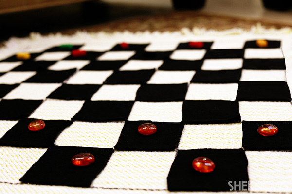 Checkers game blanket