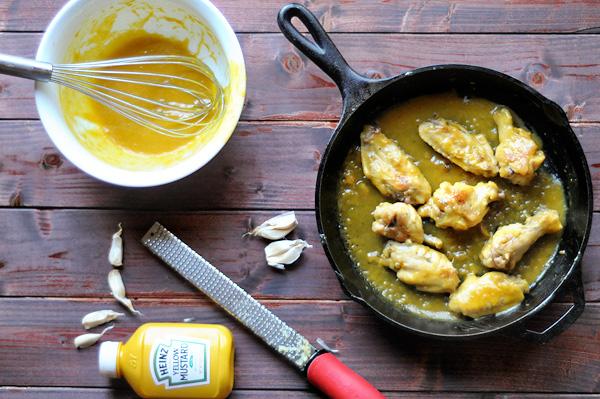 mustard and garlic gameday wings