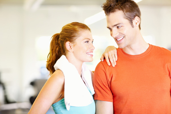 Couple at gym