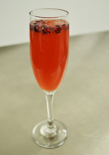 Cran-Pomegranate Mimosas