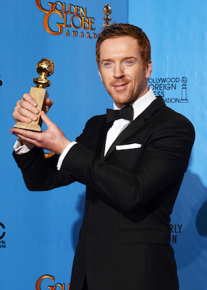 Damian Lewis wins at the 2013 Golden Globes