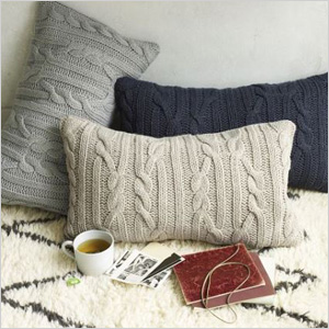 Braided cable pillow cover