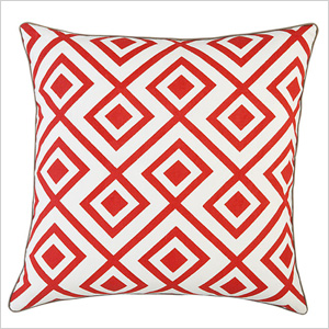 Red diamonds pillow
